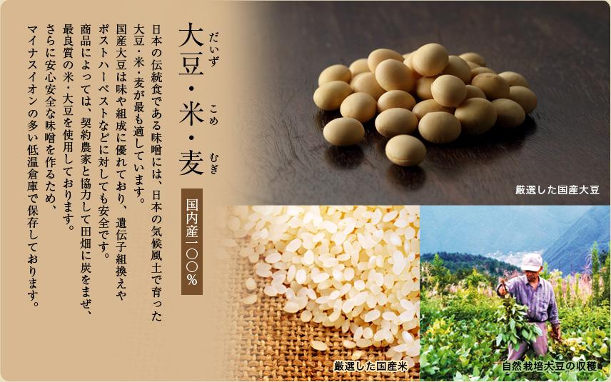大豆・米・麦